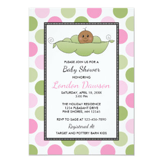 Peau d'obscurité de │ d'invitations de baby shower carton d'invitation  12,7 cm x 17,78 cm