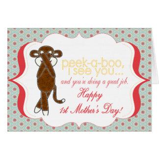 Peekaboo erste Karte der Mutter Tages