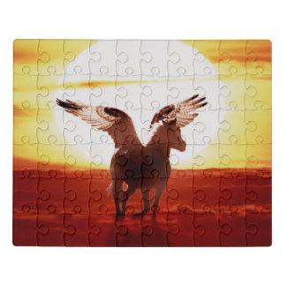 Pegasus am Sonnenaufgang Puzzle