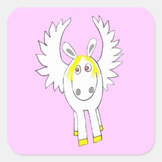 Pegasus lunatique sticker carré