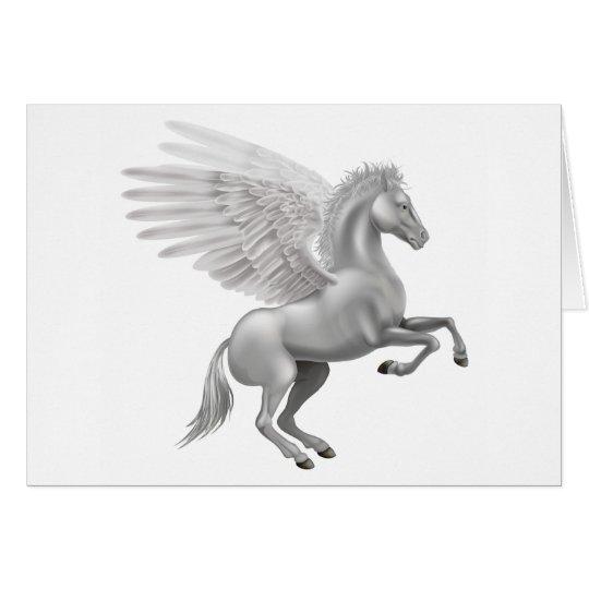 Pegasus-Pferd Grußkarte