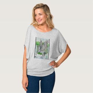 Pegasus vor Wasserfall T-Shirt