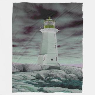 Peggy Bucht-Leuchtturm-Fleece-Decke (3 Größen) Fleecedecke