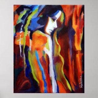 Peinture abstraite de figure femelle - copies d'ar posters