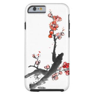 Peinture chinoise des fleurs, fleur de prune coque iPhone 6 tough