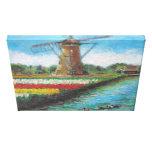 Peinture de la Hollande de paysage de moulin à ven Impression Sur Toile