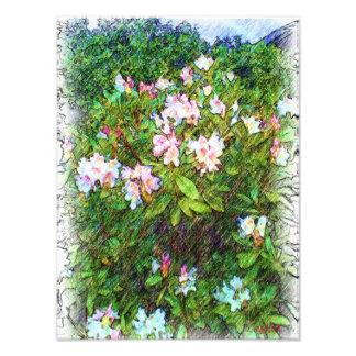 Peinture de photo de fleur