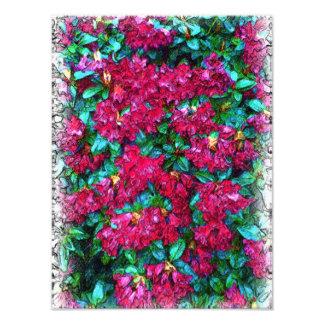 Peinture rouge de photo de fleur