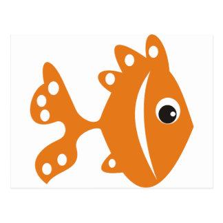 peixe laranj postkarte