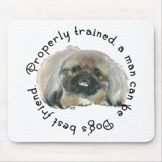 Pekingese Klugheit - Mann kann Hundebester Freund  Mousepad