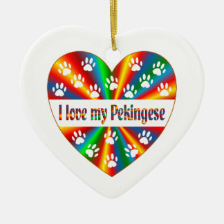 Pekingese Liebe Keramik Ornament