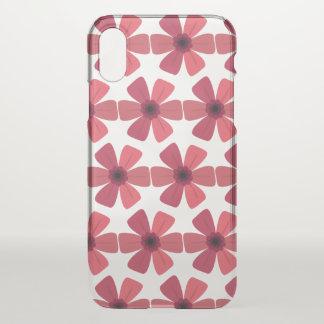 Pelargonie-Rot-Blüte iPhone X Hülle