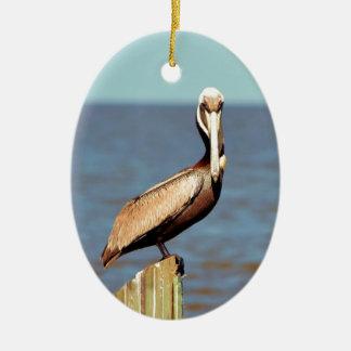 Pelikan 4.jpg Louisianas Brown Ovales Keramik Ornament