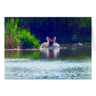 Pelikan-Anmerkungs-Karten-Liebe-Zitat Karte