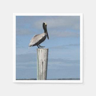 Pelikan auf ein Posten-Servietten Papierservietten