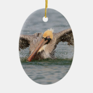 Pelikan-Bad-Zeit Ovales Keramik Ornament