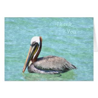 Pelikan danken Ihnen zu merken Karte