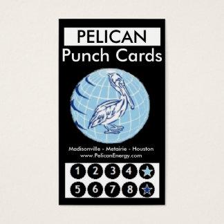 Pelikan-Energie-Lochkarten Visitenkarten