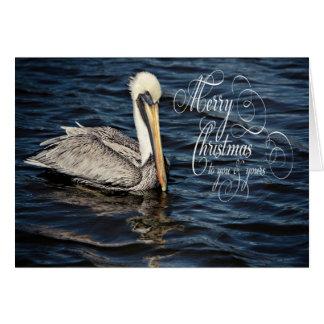 Pelikan-frohe Weihnachten Karte