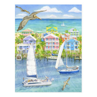 Pelikan-Gesichtspunkt Postkarte