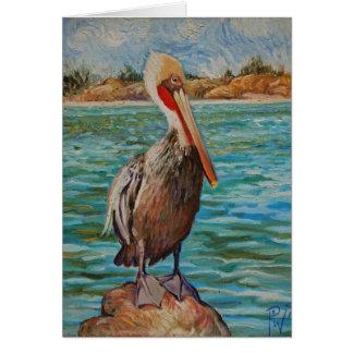 Pelikan Grußkarte