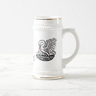 Pelikan-Lorbeer-Mod Tasse