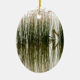 Pelikan-Versteck Ovales Keramik Ornament