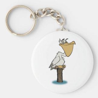 Pelikan - Vogel-Rettung Standard Runder Schlüsselanhänger
