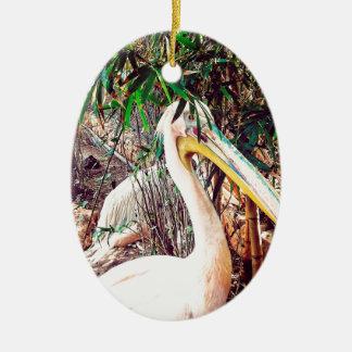 Pelikane Ovales Keramik Ornament