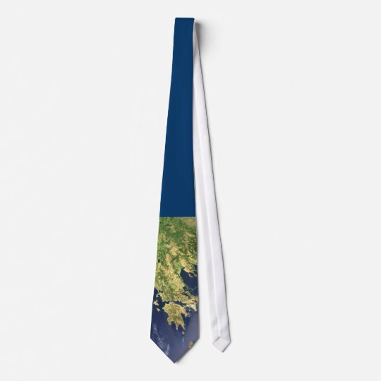 peloponnese greece satellite map blue - tie krawatte