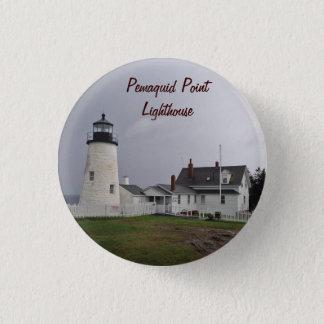 Pemaquid Punkt-Leuchtturm, Maine Runder Button 3,2 Cm