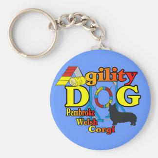 Pembroke-Walisercorgi-Agility-Shirt-Geschenke Schlüsselanhänger