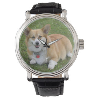 Pembroke-Walisercorgi-Armbanduhr Armbanduhr