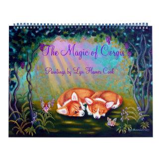 Pembroke-Walisercorgi-Kalender die Magie von Abreißkalender