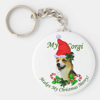 Pembroke-Walisercorgi-Weihnachtsgeschenke Schlüsselanhänger