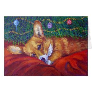 Pembroke-Walisercorgi-Weihnachtskarten Grußkarte