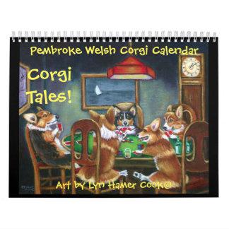 Pembroke Welsh Corgi Corgi Tales Calendar Original Kalender