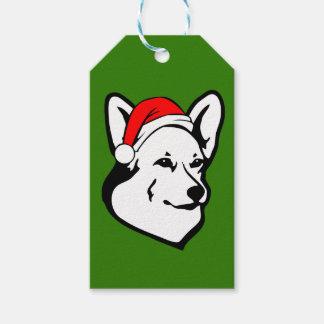 Pembrokewalisercorgi-Hund mit Geschenkanhänger