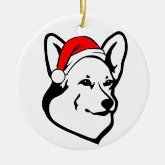 Pembrokewalisercorgi-Hund mit Keramik Ornament
