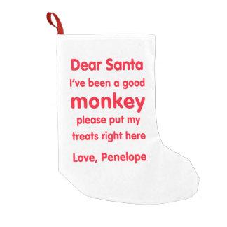 Penelope-guter Affe-WeihnachtsStrumpf Kleine Weihnachtsstrümpfe