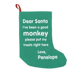 Penelope-guter Affe-WeihnachtsStrumpf Kleiner Weihnachtsstrumpf