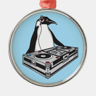 penguinX3 [1] Silbernes Ornament