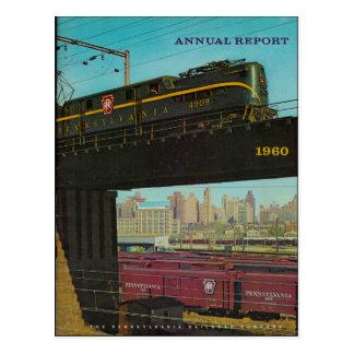 Pennsylvania-Eisenbahn-Bericht-Postkarte 1960 Postkarte