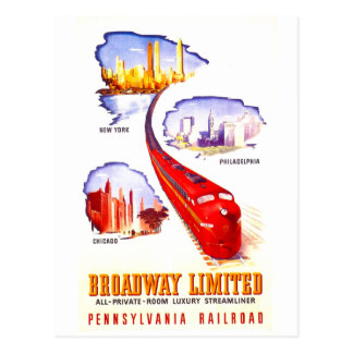 Pennsylvania-Eisenbahn Broadway begrenztes Postkarten
