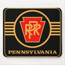 Pennsylvania-Eisenbahn-Logo, Schwarzes u. Gold Mousepads
