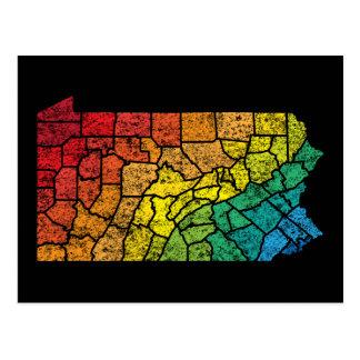 Pennsylvania-FarbLandkreise Postkarte