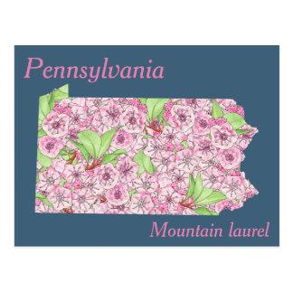Pennsylvania-Staats-Blumen-Collagen-Karte Postkarte