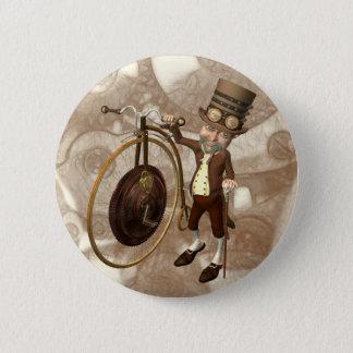 Penny-Farthing Steampunk Runder Button 5,7 Cm