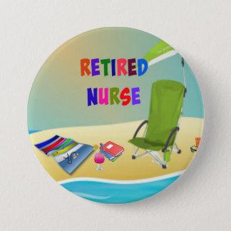 Pensionierte Krankenschwester, Spaß im Sun Runder Button 7,6 Cm