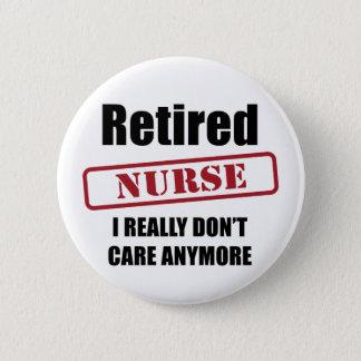 Pensionierte Krankenschwester (US-Bann) Runder Button 5,1 Cm